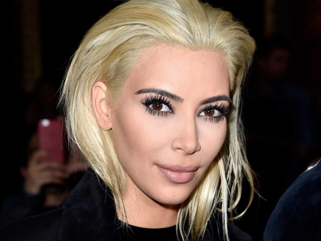 kim kardashian platinum blonde