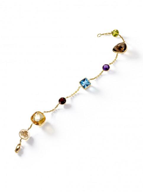 multi stone bracelet gold