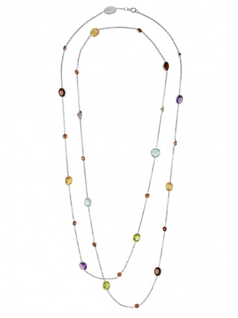 multistone long necklace