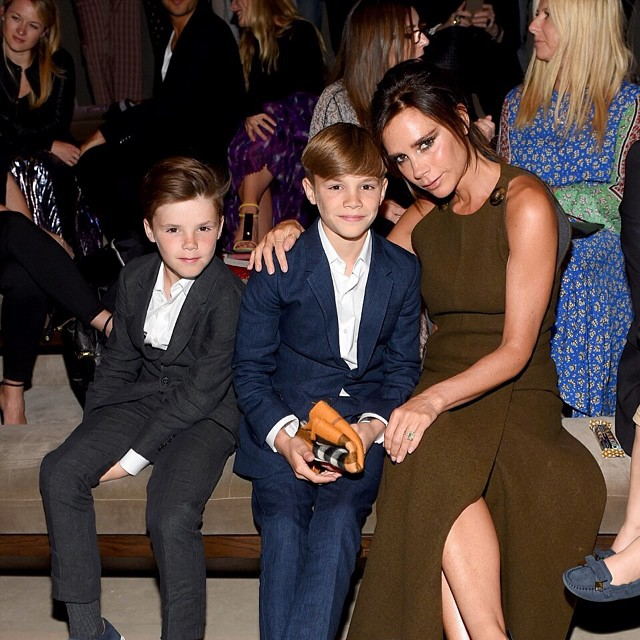 victoria beckham and two sons