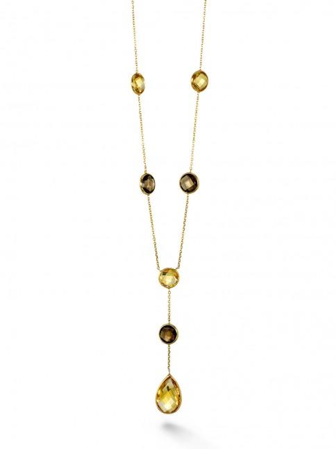 Multistone Y Necklace