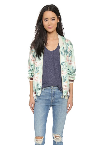 maison scoth tropical bomber jacket