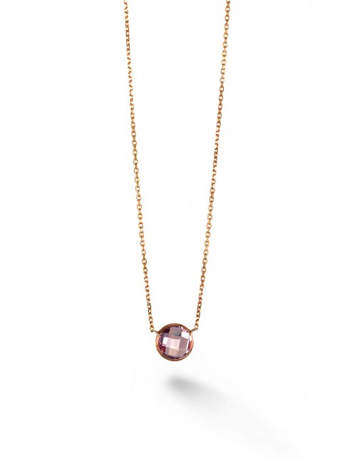 Single Stone Stackable Necklace
