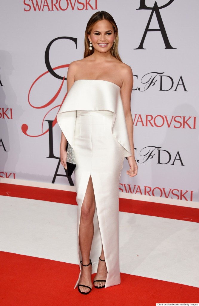 NEW YORK, NY - JUNE 01:  Model Chrissy Teigen attends the 2015 CFDA Fashion Awards  at Alice Tully Hall at Lincoln Center on June 1, 2015 in New York City.  (Photo by Dimitrios Kambouris/Getty Images)