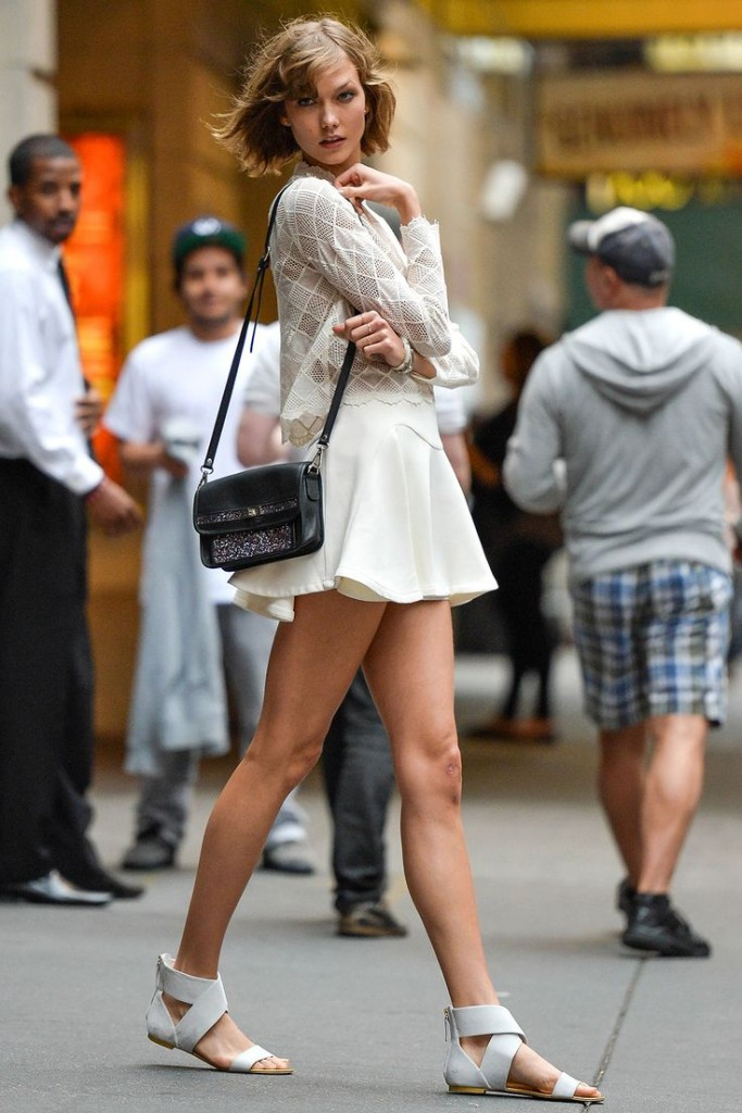 karlie kloss white outfit