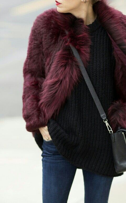 plum jacket