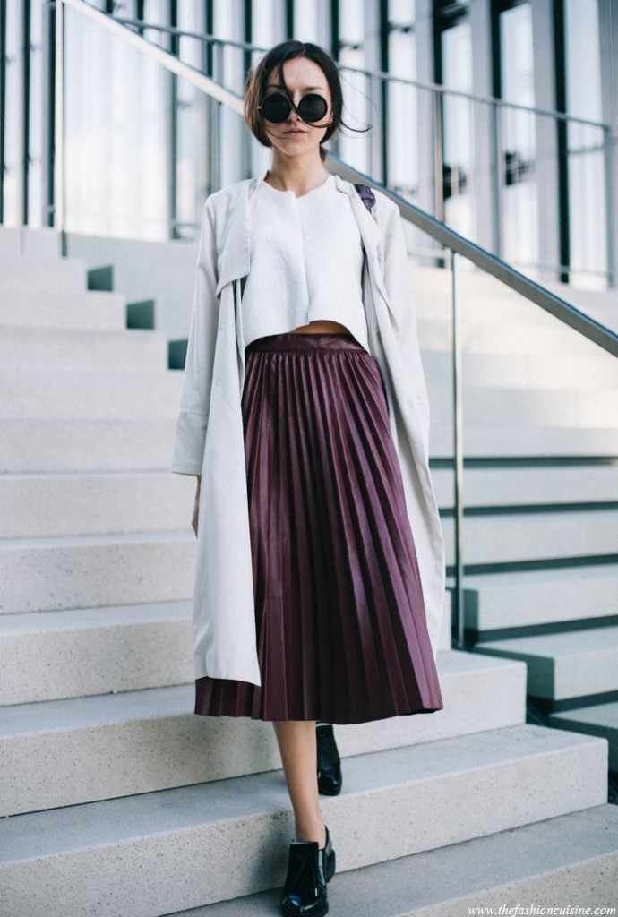 plum skirt
